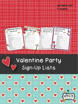 Valentine's Day Party Sign Up Poster