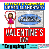 Valentine's Day: : Passage and Questions: Reading Comprehension Activity