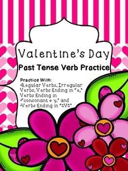 Valentine's Day Past Tense Verb Practice