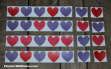 Valentine's Day Pattern Activity Heart Shape Math Puzzle Game - Classroom Party