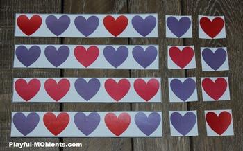 Valentine's Day Pattern Activity Heart Shape Math Puzzle G