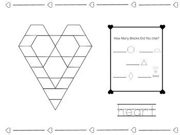 Valentine's Day Pattern Blocks