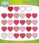Valentine's Day Pattern Hearts Clipart {Zip-A-Dee-Doo-Dah Designs}