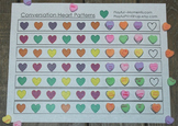 Valentine's Day Pattern Matching Activity Heart Shape Math Puzzle Party Game