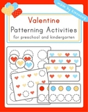Valentine's Day Patterning Activities - primary colors hearts theme