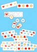 Valentine's Day Patterning Activities - primary colors hea