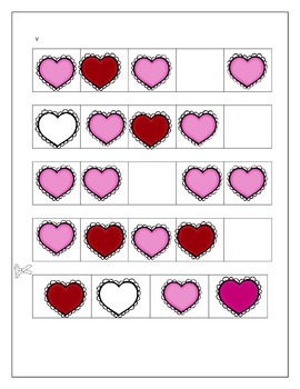 Valentine's Day Patterning Strips
