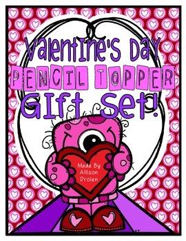 Valentine's Day Pencil Topper Gift Set