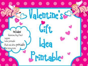 Valentine's Day Pencil Topper printable
