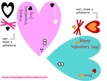 Valentine's Day Pencil Toppers, Teacher Cards or Lollipop Tags