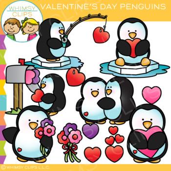Penguin Valentine's Day Clip Art
