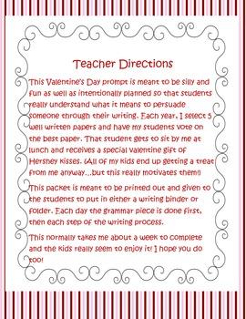 Valentine's Day Persuasive Writing Packet