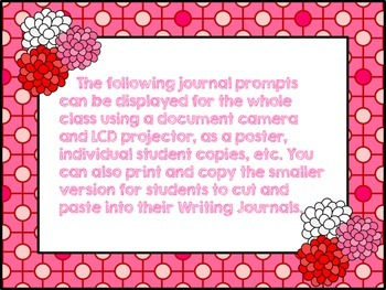 Valentine's Day Persuasive Writing Prompts
