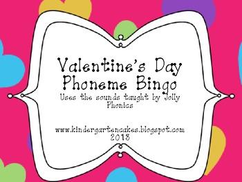 Valentine's Day Phoneme Bingo