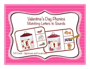 Valentine's Day Phonics: Matching Sounds and Letters