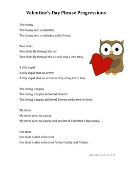 Valentine's Day Phrase Progressions for Fluency