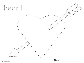 Valentine's Day Picture Tracing