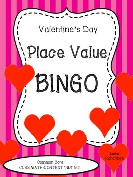 Valentine's Day Place Value Bingo
