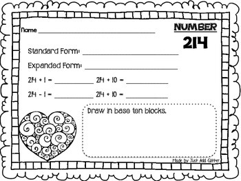 Valentine's Day Place Value FREEBIE
