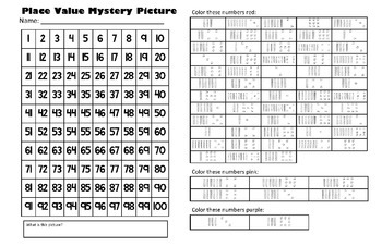 Valentines Day Place Value Math Mystery Picture - Happy Heart - 11x17