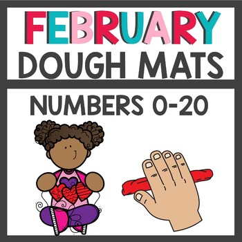 Valentines Day Play Dough Numbers
