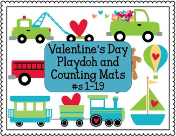 Valentine's Day Playdoh and Counting Mats #1-19 (Ten Frame)