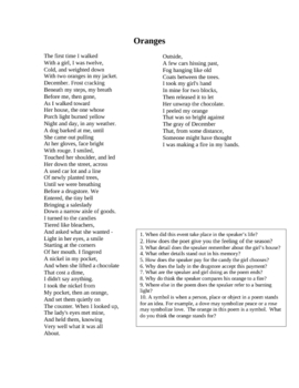Valentine's Day Poem and Questions