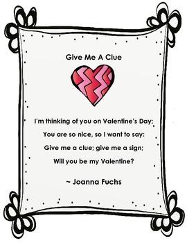Valentine's Day Poetry Center 2-pack No prep
