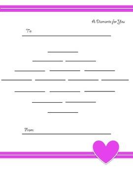 Valentine's Day Poetry - Diamante