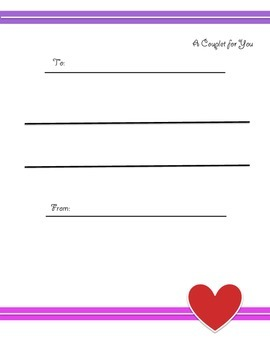 Valentine's Day Poetry - Couplets