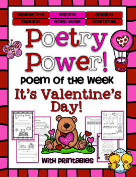 Valentine's Day Poetry Power! Daily Literacy Practice