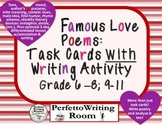 Poetry Close Read Task Cards w 3-day Application Writing. Grade 6 -8, 9 -11