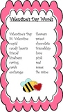 Valentine's Day Portable Word Wall