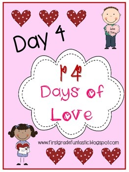 Valentine's Day Positive Affirmation Hearts:  Day 4 of 14 Days of Love