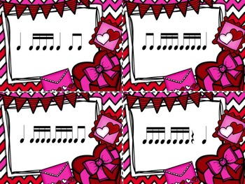 Valentine's Day Post Office - 4 Games for Rhythm Practice