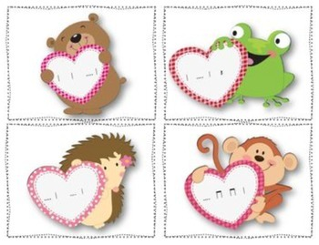 Valentine's Day Post Office Rhythmic Set
