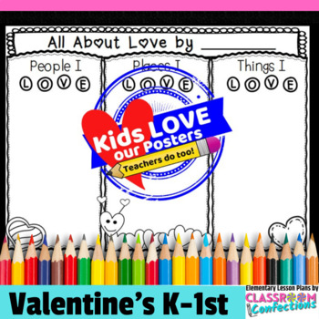 Valentine's Day Poster Activity for K-1