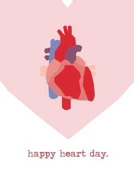 Valentine's Day Poster: Anatomical Heart
