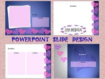 Valentine's Day - Hearts - Editable Template - PowerPoint slide design
