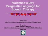 Valentine's Day Pragmatic Language for Speech Therapy
