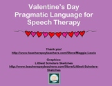 Valentine's Day Pragmatic Language for Speech Therapy