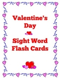 Valentine's Day Pre-Primer Sight Word Flash Cards