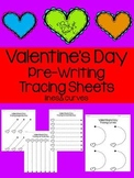 Valentine's Day - Pre-Writing Tracing Pages