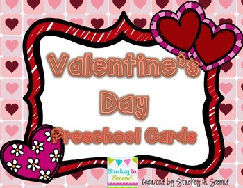 {$1 Deal} Valentine's Day Preschool Cards (Letters & Numbers)