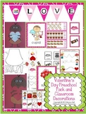 Valentine's Day Preschool Pack and Classroom Decorations