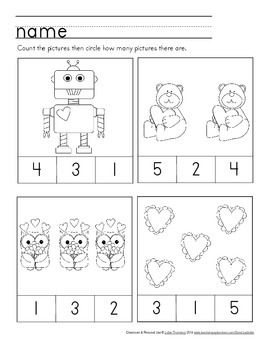 Valentine's Day Packet: Preschool & Early Elementary Printables & Activities