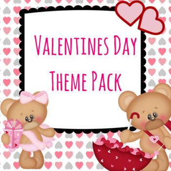 Valentine's Day Preschool Theme Pack