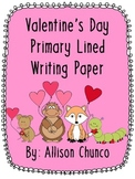 Valentine's Day Primary Lined Writing Paper