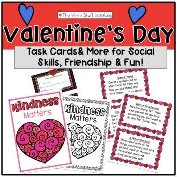 Valentine's Day Friendship Task Cards