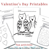 Valentine's Day Printable, Activity Sheets, Coloring Sheet